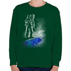 PRINTFASHION Csillagpor - Gyerek pulóver - Sötétzöld