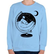 PRINTFASHION Új világ - Gyerek pulóver - Világoskék