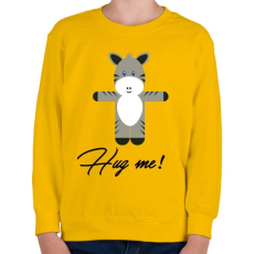 PRINTFASHION Hug me! - Gyerek pulóver - Sárga