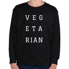 PRINTFASHION Vegetarian - Gyerek pulóver - Fekete