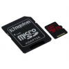 Kingston Card MICRO SD Kingston 64GB Canvas React UHS-I U3 V30 A1 + Adapter