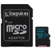 Kingston Card MICRO SD Kingston 64GB Canvas Go! UHS-I U3 CL10 adapter nélkül