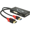 DELOCK Adapter HDMI male > DVI / VGA / Displayport female 4K black