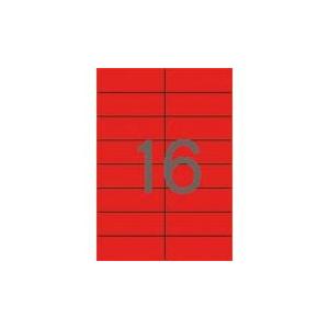 APLI Etikett, 105x37 mm, színes, APLI, piros, 320 etikett/csomag [20 lap]