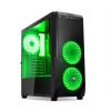 Spirit of Gamer ROGUE 1 Green (fekete, ablakos, 3x12cm ventilátor, ATX, mATX, 2xUSB3.0, 1xUSB2.0)