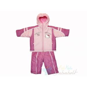 Hello Kitty baba és gyerek téli dzseki és kantáros nadrág (méret: 80-110)