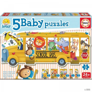 Educa Borras Puzzle Baby Bus Animals gyerek