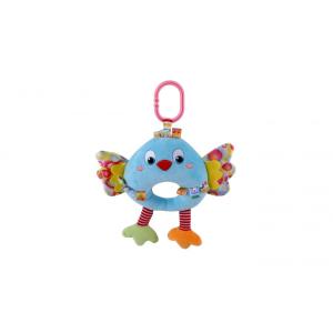 Lorelli Toys zenélő plüss játék - kék madár
