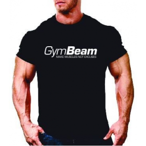 GymBeam Póló Make Muscles Black M