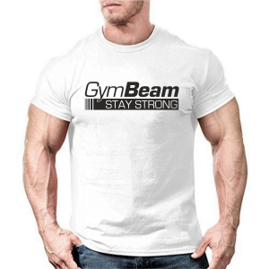 GymBeam Póló Stay Strong White S