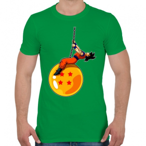 PRINTFASHION Dragonball - Wrecking Ball - Férfi póló - Zöld