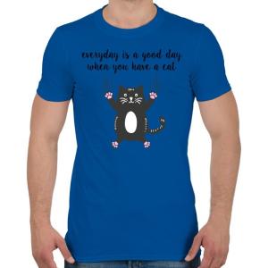 PRINTFASHION Ha van egy macskád - Férfi póló - Királykék