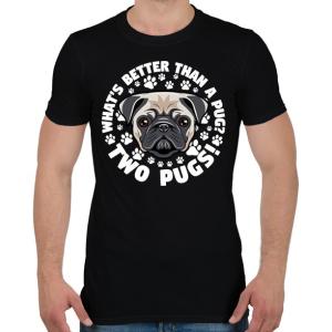 PRINTFASHION Két kutya jobb mint egy - Férfi póló - Fekete