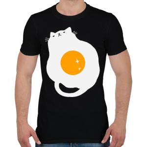 PRINTFASHION Egg Cat - Férfi póló - Fekete