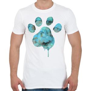 PRINTFASHION Vízszínű Mancs - Férfi póló - Fehér