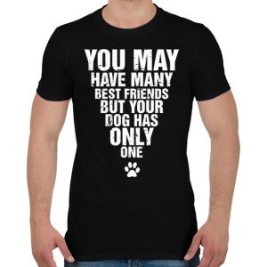 PRINTFASHION A kutyádnak csak egy barátja van! - Férfi póló - Fekete