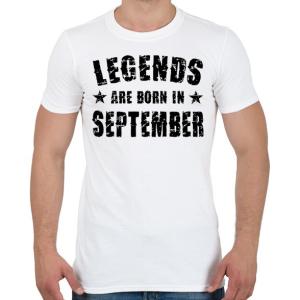 PRINTFASHION A legendák szeptemberben születtek - Férfi póló - Fehér