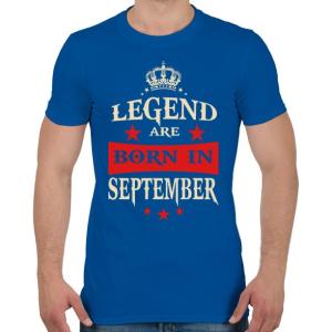 PRINTFASHION A legendák szeptemberben születnek - Férfi póló - Királykék