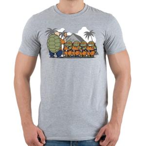 PRINTFASHION Dragonball teknősök - Férfi póló - Sport szürke