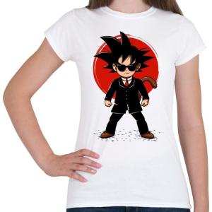 PRINTFASHION Goku - Ügynök - Női póló - Fehér