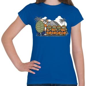 PRINTFASHION Dragonball teknősök - Női póló - Királykék