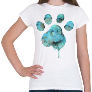 PRINTFASHION Vízszínű Mancs - Női póló - Fehér