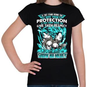PRINTFASHION Dragonball - Bölcsesség - Női póló - Fekete