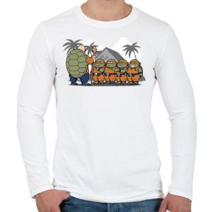 PRINTFASHION Dragonball teknősök - Férfi hosszú ujjú póló - Fehér