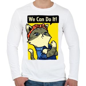 PRINTFASHION Megcsináljuk! - Férfi hosszú ujjú póló - Fehér