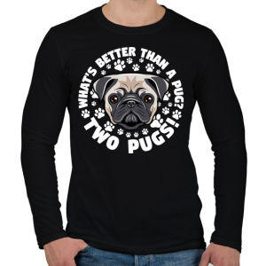PRINTFASHION Két kutya jobb mint egy - Férfi hosszú ujjú póló - Fekete