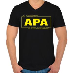 PRINTFASHION legjobb-apa-star-wars-classic - Férfi V-nyakú póló - Fekete
