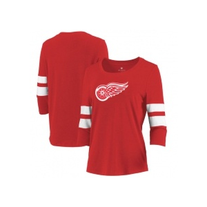 Let Loose by RNL Detroit Red Wings női póló red Let Loose by RNL 3/4 Sleeve Tri-Blend - S