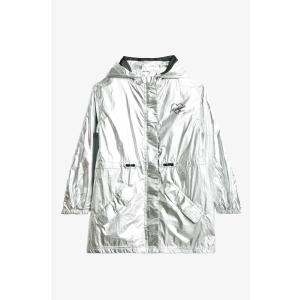 Pepe Jeans - Gyerek kapucnis kabát Aurora 122-180 cm - ezüst - 1251770-ezüst