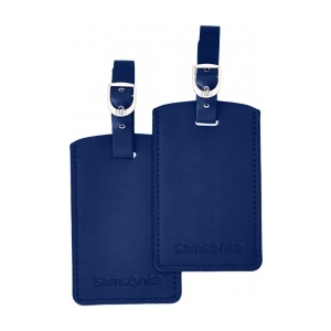 SAMSONITE Travel Accessories V Rect. Bag tag (Set of 2) indigókék