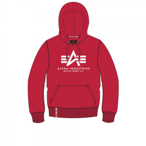 Alpha Indsutries Basic Hoody - speed red