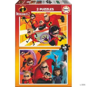 Educa Borras Puzzle Los Increibles 2 Disney 2x48pz gyerek