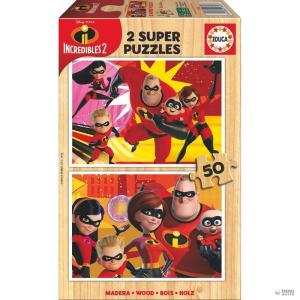 Educa Borras Puzzle Los Increibles 2 Disney faipari 2x50pz gyerek