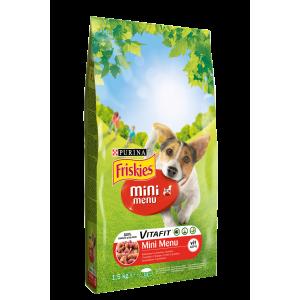 Purina Friskies Dry Dog Mini menü marha+zöldség 1,5 kg