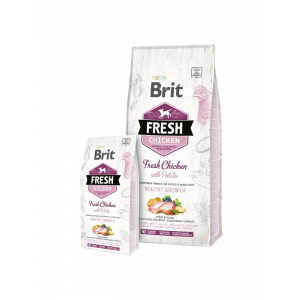 Brit Fresh Chicken with Potato Puppy Healthy Growth 12 kg