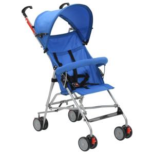 vidaXL kék összecsukható acélvázas babakocsi