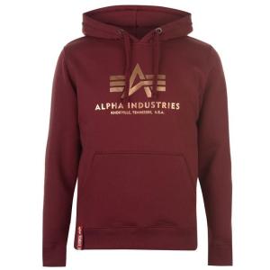 Alpha Indsutries Basic Hoody - burgundy/gold