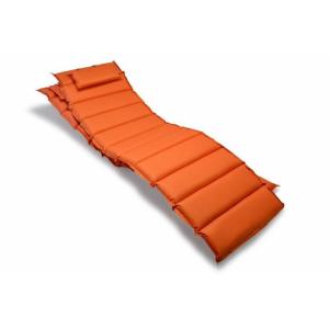 Divero Készlet 2x párnázás nyugágyra Garthen - narancssárga
