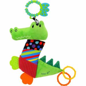 BABY MIX Vibrálós gyerek plüss játék Baby Mix krokodil