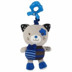 BABY MIX Gyerek plüss zenélős játék Baby Mix cica kék