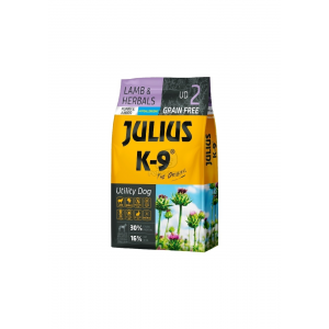 Julius K-9 Grain Free Puppy & Junior Utility Dog - Lamb & Herbals 3 kg (311234)