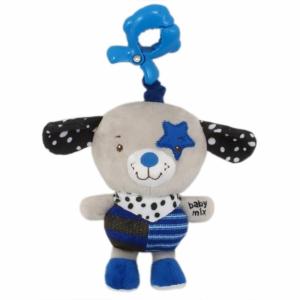 BABY MIX Gyerek plüss zenélős játék Baby Mix kutyus kék