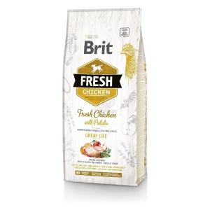 Brit Fresh Adult Great Life - Csirke és burgonya 12 kg