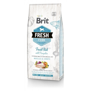 Brit Fresh Adult Large Dogs Muscles & Joints - Hal és sütőtök 2,5 kg