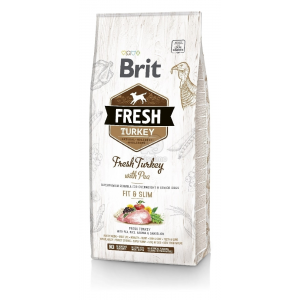 Brit Fresh Overweight & Senior Dogs Fit & Slim - Pulyka és borsó 12 kg