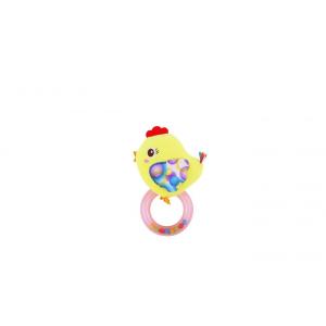 Lorelli Toys karikás plüss csörgő - sárga csibe